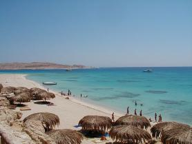 Egyptská Hurghada a jedna z pláží