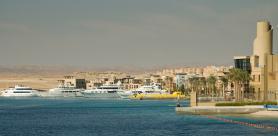 Část egyptského letoviska Port Ghalib