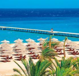 Egyptský hotel Amwaj Resort s pláží