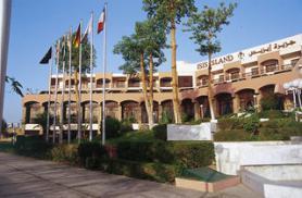 Egyptský hotel Pyramisa Isis Island - vstup