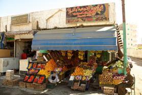 Egyptská Hurghada a pouliční stánek