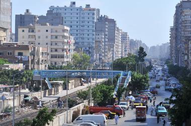Ruch egyptského města Alexandria