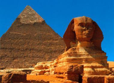 Velká sfinga v Gíze, Egypt