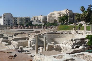 Alexandria - pozůstatky římského divadla