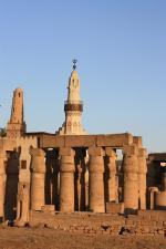 Mešita Abu el-Haggag v chrámovém komplexu, egyptský Luxor